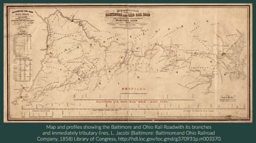 Baltimore and Ohio RR in 1858