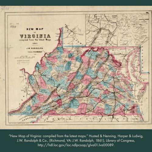 Map of VA in 1861 before creation of WVA